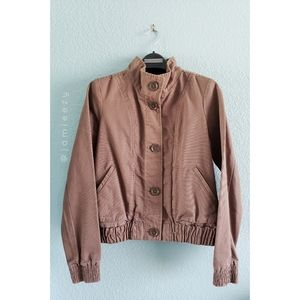 Old Navy | Button-Down Twill Bomber Style Jacket